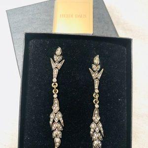 Heidi Daus Art Nouveau Hanging Earrings